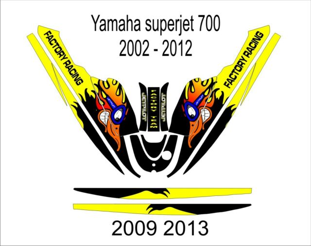 Yamaha Super Jet 700 Jet Ski Wrap Graphics Pwc Stand Up