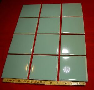 Vintage Nos Spruce Green 4 3 8 Inch Wide Repair Your Bathroom Tile Mosaic Co Ebay