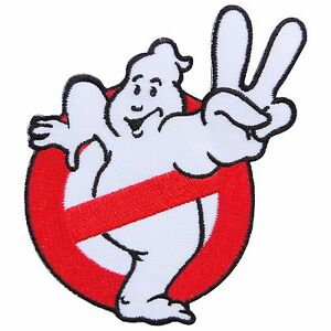 Ghostbusters 2 No Ghost V Sign Hand Logo Movie Cartoon Kids Iron ...