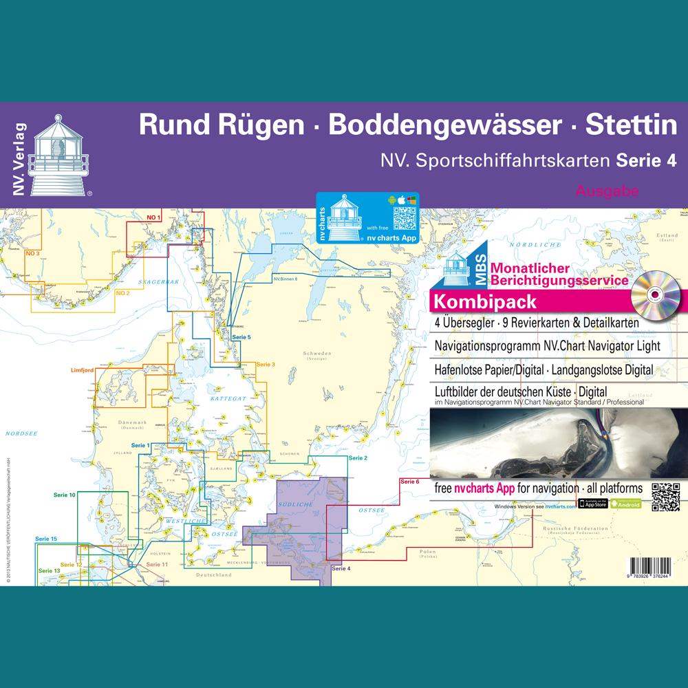 2019  Seekarten Ostsee   Kombipack Serie 4  IV    NV-Verlag  NEU Plano