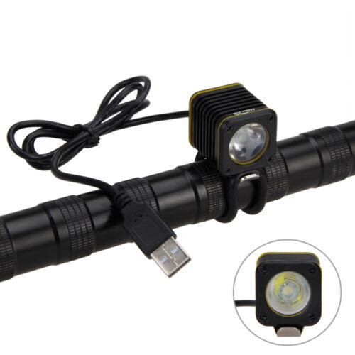 5X USB 5000lm 4modes XML T6 LED MINI BICYCLE LIGHT HEAD TORCH BIKE MOUNTAIN LAMP