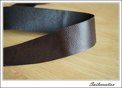 185cmx4cm Galon plat en simili cuir noir Crocodile Black Imitation Leather PU
