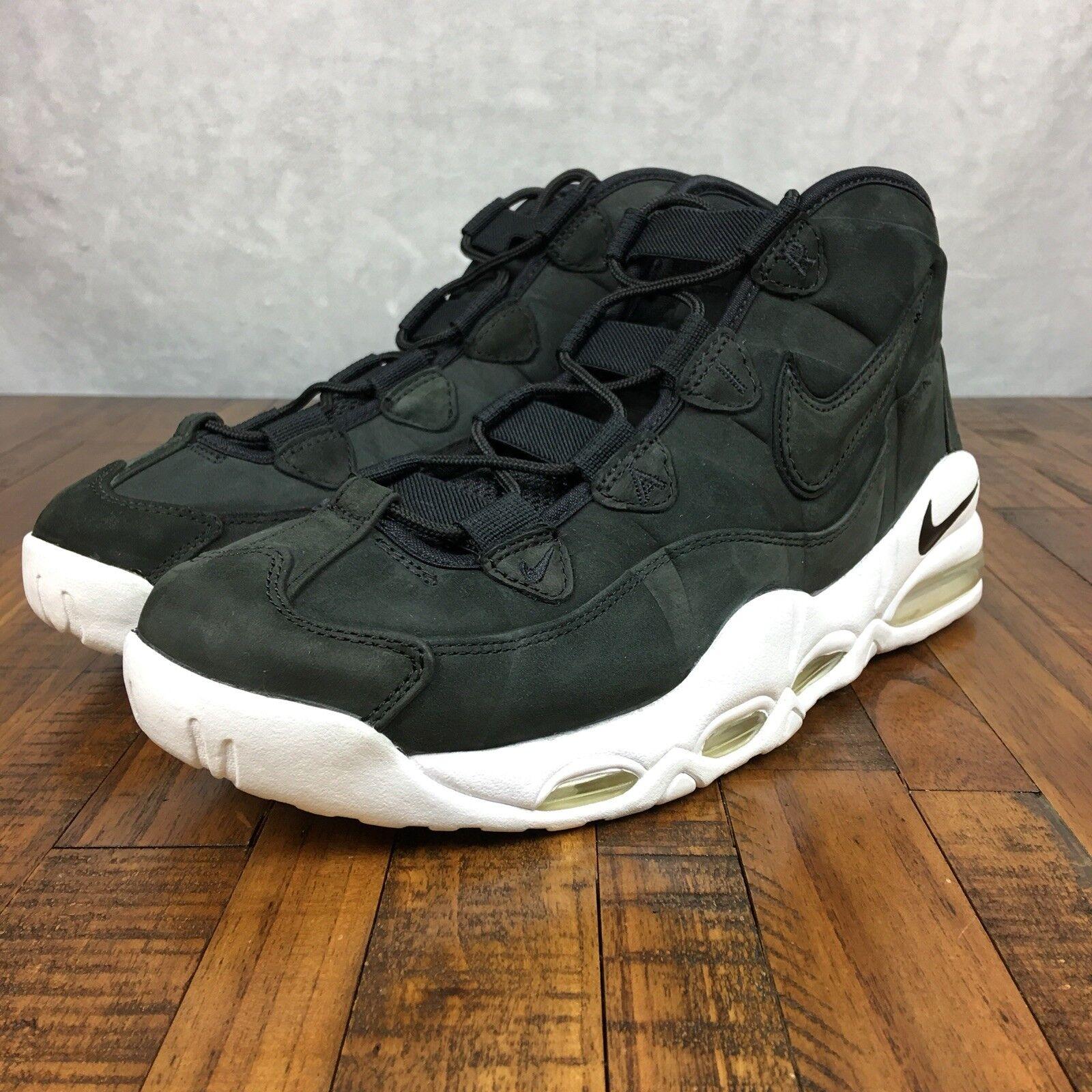 Nike Air Max Uptempo Hi Top Basketball Black Shelf Wear 311090 005 Men Size 10.5