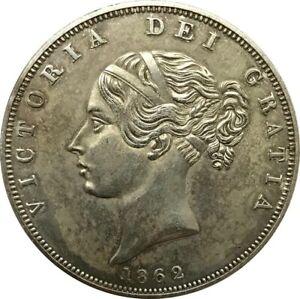 Hobo 1862 Queen Victoria Young Head Silver Crown Skull Coin