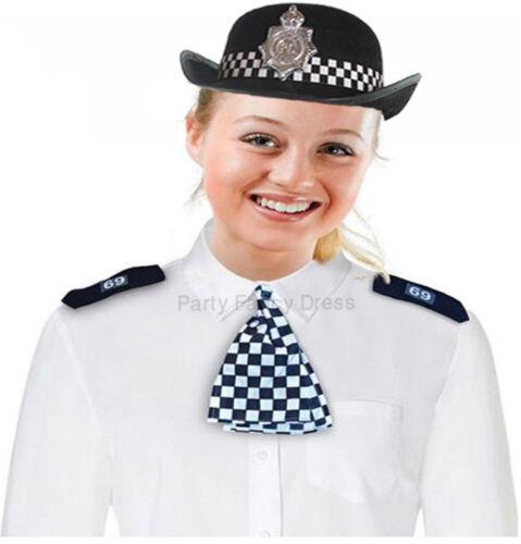 UNISEX WPC POLICEWOMAN HAT SCARF EPAULETTES FANCY DRESS HEN PARTY COSTUME