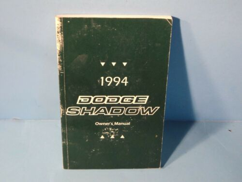 94 1994 Dodge Shadow owners manual