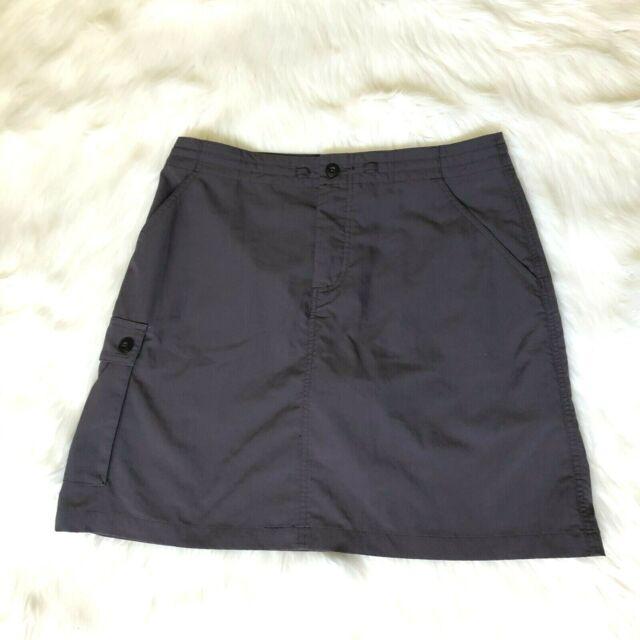 Patagonia Womens Skort Skirt Shorts Gray Hiking Outdoor Cargo Pocket Size 6