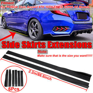 Side-Skirt-Extensions-For-Honda-Civic-Accord-Si-Type-R-10th-Gen-Sedan-Hatchback