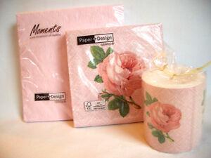 37tlg-Servietten-Dekorkerze-Portraeit-of-rose-Rosenmotiv-Hochzeit-Festl-Anlass