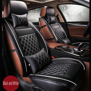Image Is Loading Luxury Breathable PU Leather Car Seat Cover Cushion