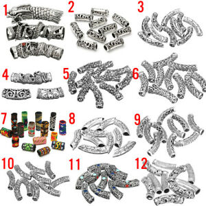 12Type-Bead-Charm-Stopper-Clip-Perle-Bartperle-Bartschmuck-Haarperle-Keltisch-DE