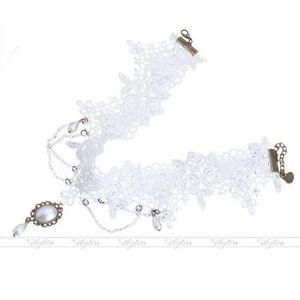 1x-Fashion-Womens-Lace-Collar-Choker-Faux-Pearl-Pendant-Necklace-Victorian-Steam