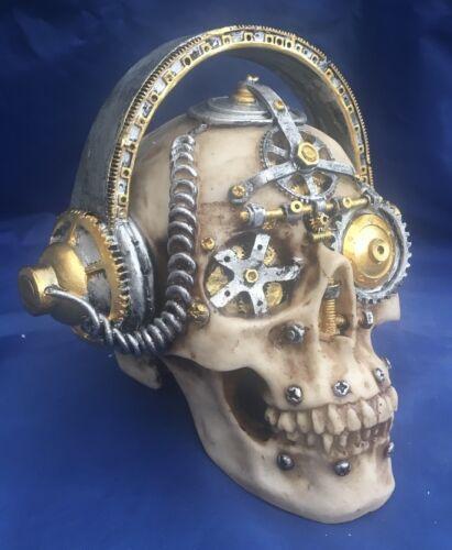 Skull Nemesis Now New Boxed Ornament Gothic Skeleton lg Steampunk Techno Talk