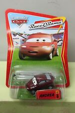 ANDREA Disney Pixar Cars Press Reporter Race O Rama Maroon Diecast Boom Mic NEW