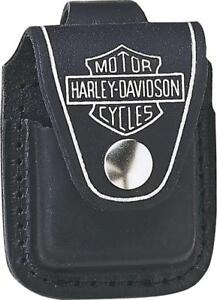 Zippo-Harley-Davidson-Leather-logo-Lighter-Pouch-17080