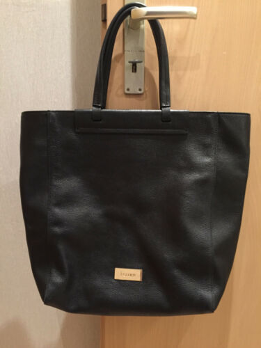 Leder Leather Schwarz Shopper Sac Handtasche Tasche Pollini Damen Bag nw7aS1nqg