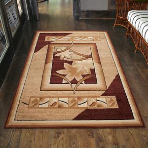 Teppich Wohnzimmer Modern Floral Beige Braun Laufer S Xxl 200x300