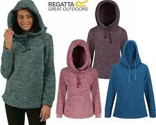 Regatta Womens Kizmit Hooded Marl Fleece Top Jumper Sweater Pullover Hoodie