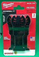 New Milwaukee 49 25 1103 Oscillating Multi Tool Blade Kit 3 Piece