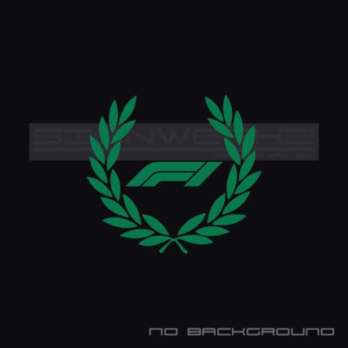 F1 Racing Wreath Decal Sticker logo Track Racing Circuit Hamilton new 2018 Pair