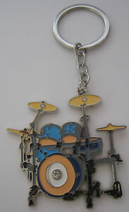 Drum-Kit-Key-Ring-Keyring-Music-Gift-Present-Drumkit-Drummer-Drums-Percussion