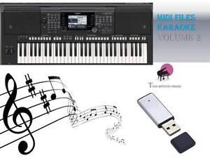 MIDI File Karaoke USB stick for PSR S750 S770 NEW Volume 2