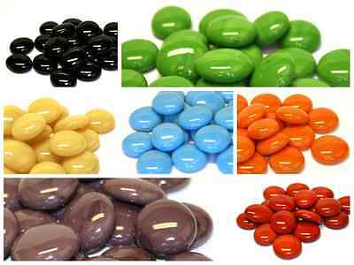 100 x Glass Pebbles / Nuggets / Stones ~ Marble Variety - Choice of Colours