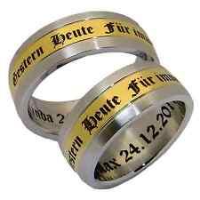 2 Eheringe Hochzeitsringe Partnerringe Verlobungsringe Ringe Ring 8 mm & Gravur