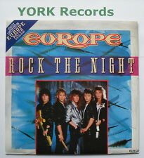 """EUROPE - Rock The Night - Excellent Condition 7"""" Single Epic EUR Q1"""