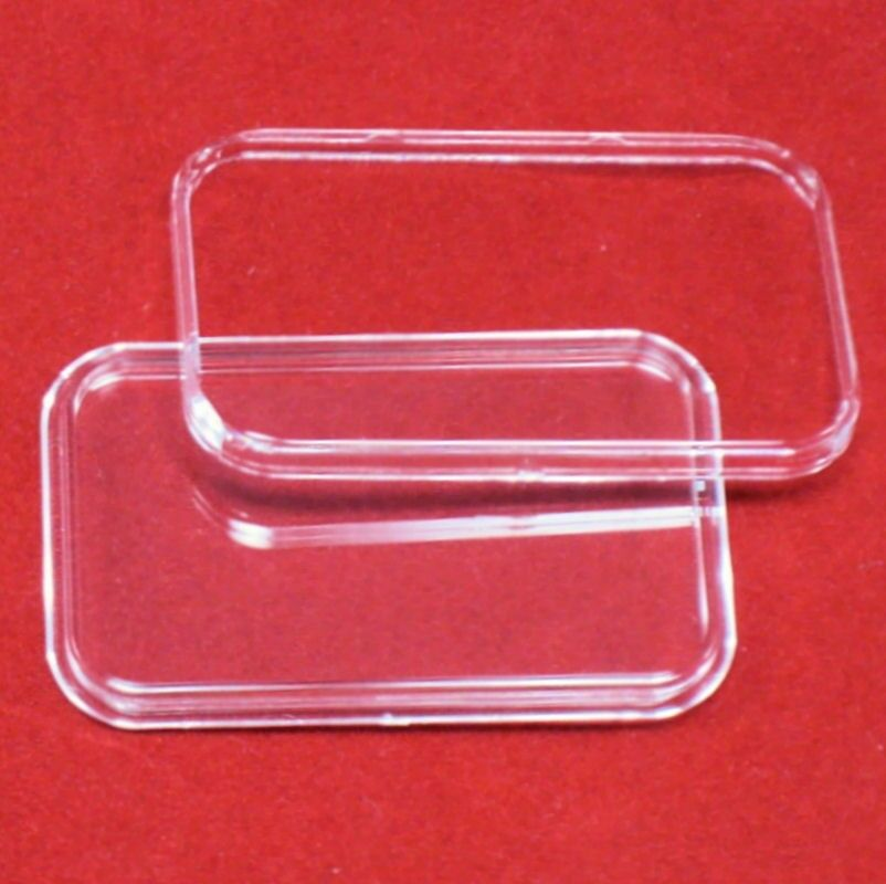 100 Air-Tite Direct Fit Coin Holder Capsules for 1oz Silver Bar One Troy Ounce