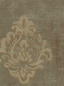 Block Print Wallpaper wallpaper designer light taupe and gold block print damask on