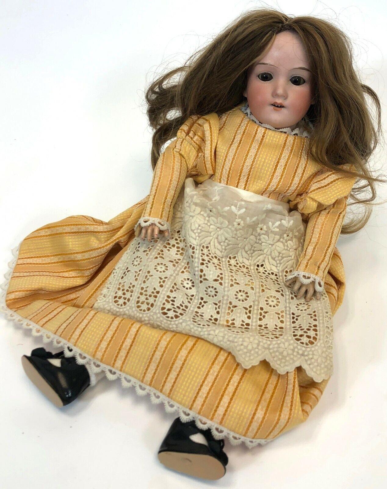 Antique Aruomod Marseille Geruomoy 390 DRGM 24 G 1  Bisque Porcelain 16  Girl bambola  benvenuto per ordinare