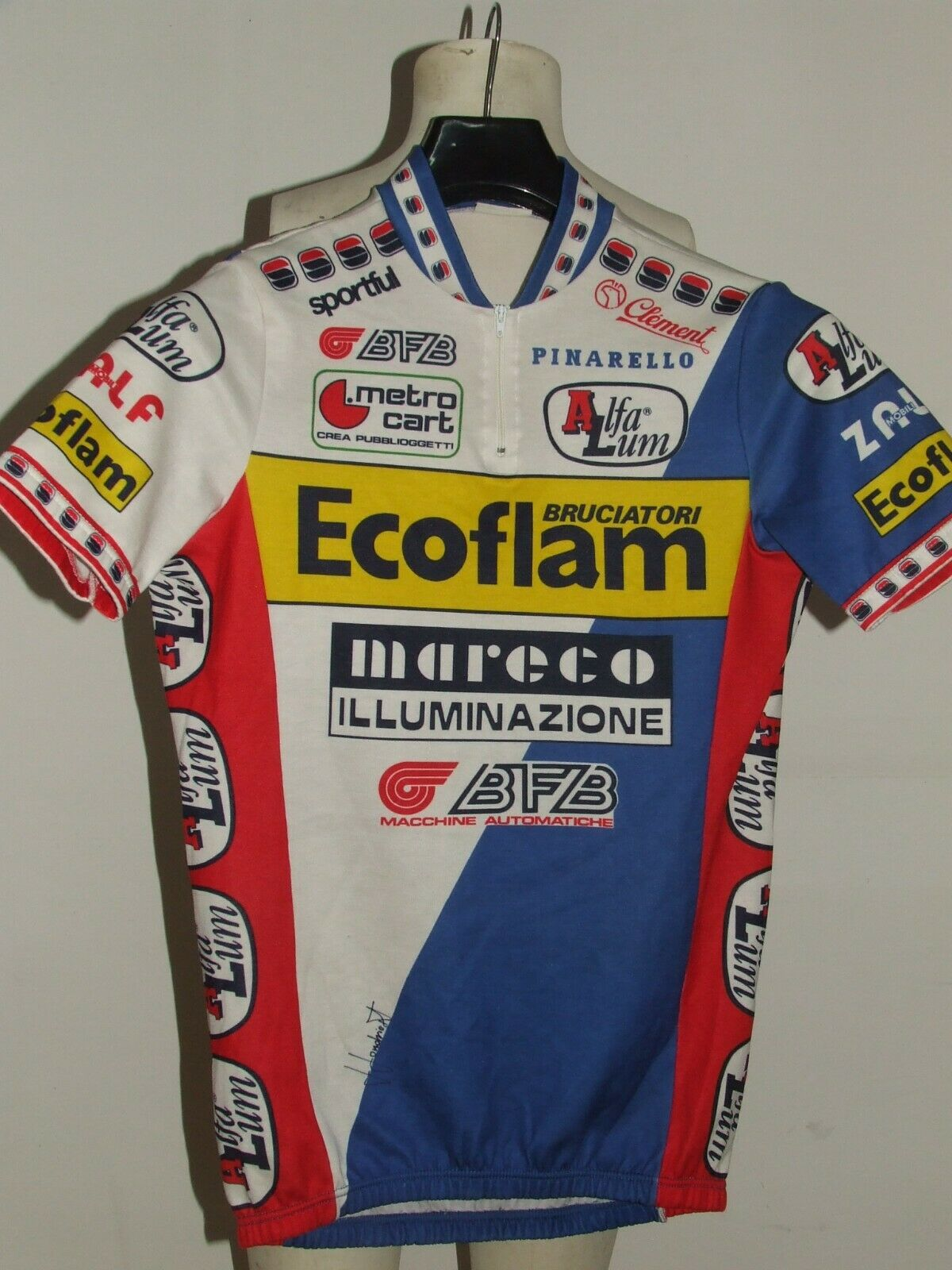 BIKE CYCLING JERSEY SHIRT MAILLOT CYCLISM TEAM ECOFLAM SPORTFUL size L