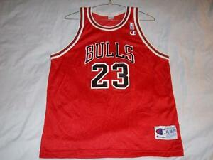 size 40 1e415 e18b1 Details about Michael Jordan 23 Chicago Bulls NBA Champion Red Jersey Boys  XL 18-20 used