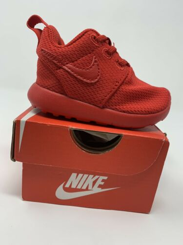 BABY BOYS Nike Roshe One Shoes Size 3C 749430-606 Red