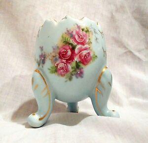 VintageInarco Porcelain Footed Egg Vase Dish Container