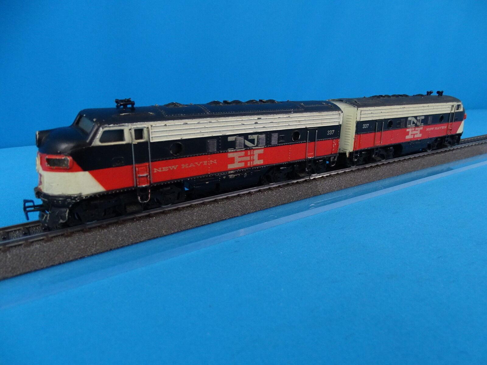 Marklin 3062 + 4062 US F7 Diesel Locomotive set NEW HAVEN  RARE VERSION 1