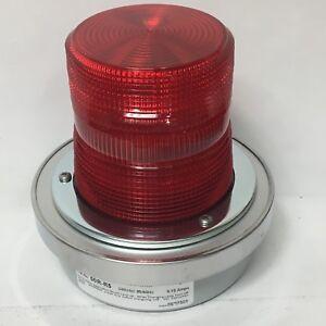 Adaptabeacon Flashing Red Beacon Light 50r R5 0 10a 240v