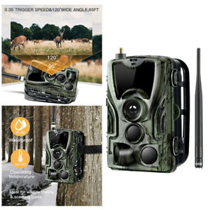 1080P-Camera-de-Chasse-Cachee-Nocturne-IR-HD-Nuit-Vision-GPRS-GSM-MMS-SMTP-SMS