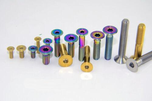 6x M4 x 8//10//14//15//18//20//25//30 Titanium Countersunk Hexagon Socket Head Bolt