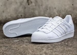 d9accd100ca Image is loading Adidas-Mens-Originals-Superstar-Breathable-Knit-Triple- White-