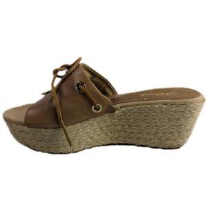 b3b83897ff8 Details about Sperry Platform Wedge Sandals Top Sider Hillsboro Tan Jute  Womens Size 7.5
