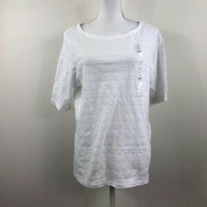 Charter-Club-Womens-Top-Boatneck-Elbow-Sleeve-Pima-Textured-White-Plus-Sizes