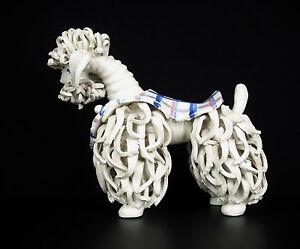 Interesting Dog Poodle Terracotta Glazed Curiosity Glazed Poodle Dog