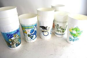 1985-World-Series-Champions-KC-Royals-Vintage-Stadium-Plastic-Cups-10-pcs-1986