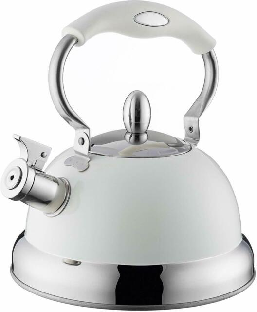 BLUE COMPACT 1.5L WITH FOLDING HANDLE WHISTLING CAMPING KETTLE