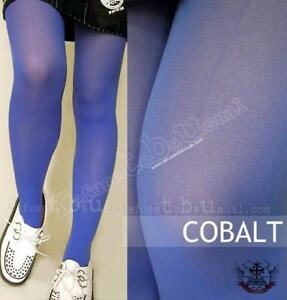 c9beef9eccf Image is loading PUNK-COLOR-TIGHTS-STOCKING-PANTYHOSE-OPAQUE-COBALT-BLUE
