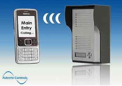 GSM Door Phone Intercom Door Entry Wireless Dial to Open Gate Opener System UK