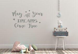 Può tutti i vostri sogni si avverano, ragazze camera da letto, muro Adesivo Decalcomania in Vinile ARTE  </span>