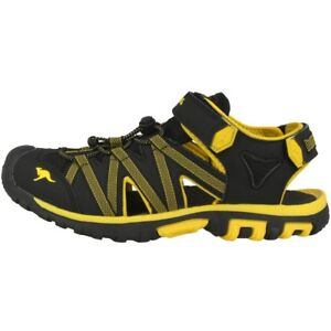 Kangaroos-Osato-Sandalias-Zapatos-Informales-Jet-Black-Yellow-18185-5028